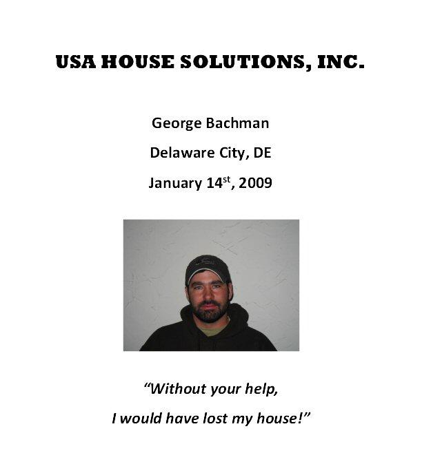 George Bachman - Testimonial