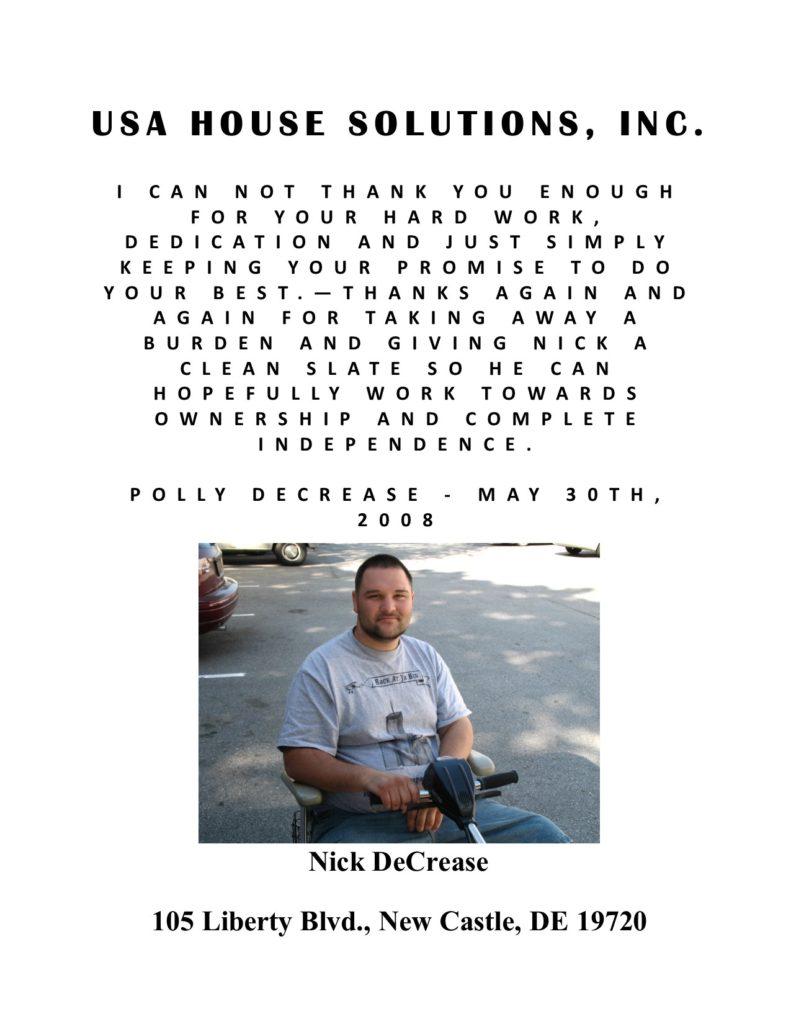 Nicholas Decrease Testimonial