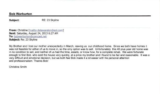 Christine Smith - 23 Skyline Testimonial